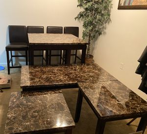 Dining Room set with chairs and bonus 2 side table and coffee table!! for Sale in North Royalton, OH