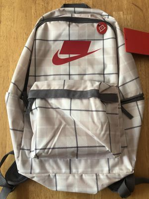 Brand new Nike heritage checkerboard backpack laptop gym bag book school for Sale in El Cajon, CA