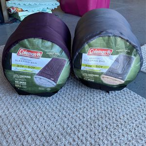 2 Coleman Sleeping Bags for Sale in Temecula, CA