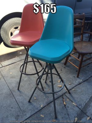 Pair of mid century bar stools for Sale in San Diego, CA