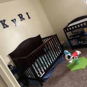 Crib & Changing Table Adding Lion King Bedding/2 Lion King Canvases & Lion King Storage Bins for Sale in New Albany, IN