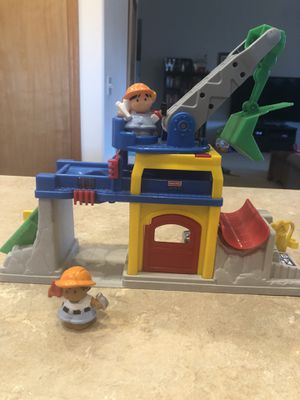 Fisher Price Little People Fun Sounds Crane and Quarry for Sale in Wenatchee, WA