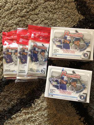 Bowman Baseball 2020 MLB Blaster & Cello Val Pack Lot - Brand New Unopened! for Sale in Highland Charter Township, MI