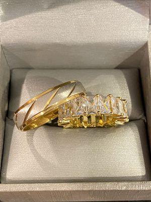 18K Gold plated Ring Set- Code CSL019 🏰 for Sale in Sacramento, CA
