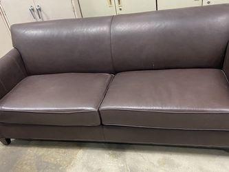 Leather Crate & Barrel Sofa Love Seat Living Room Furniture for Sale in Glendora,  CA