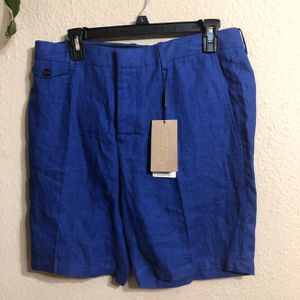 Burberry men's shorts small blue designer brand new with tags authentic for Sale in Mesquite, TX
