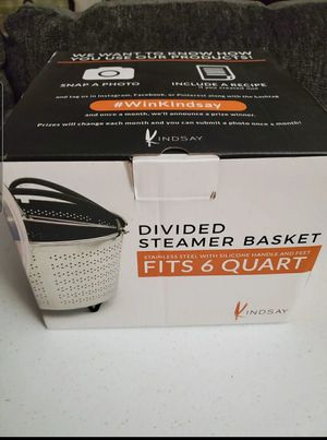Divided Steamer Basket for Sale in Barstow, CA