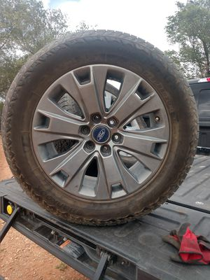 """2017 Ford F-150 20"""" rims and tires for Sale in Santa Fe, NM"""