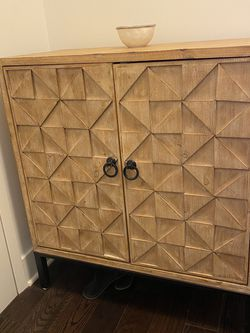 Solid Wood With Detail Storage Cabinet for Sale in Jersey City,  NJ