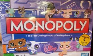 LITTLEST PET SHOP 🐷🐯🦄🐱!! MONOPOLY GAME W/4 EXCLUSIVE PETS!! **NEW IN PLASTIC for Sale in Phoenix, AZ