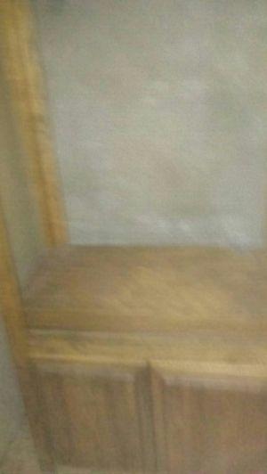 Oak bookshelves/ lower cabinet for Sale in Portland, OR