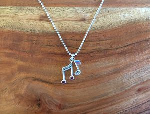 925 Sterling Silver Music Note Necklace for Sale in Hesperia, CA