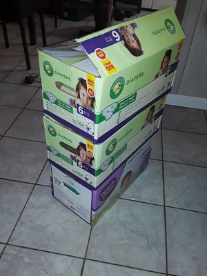 3 Diaper Boxes of Baby & Kid Clothes $25 obo, Multiple Sizes!! for Sale in Houston, TX