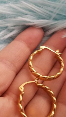 Yellow Gold Plated Earings for Sale in Fort Worth,  TX
