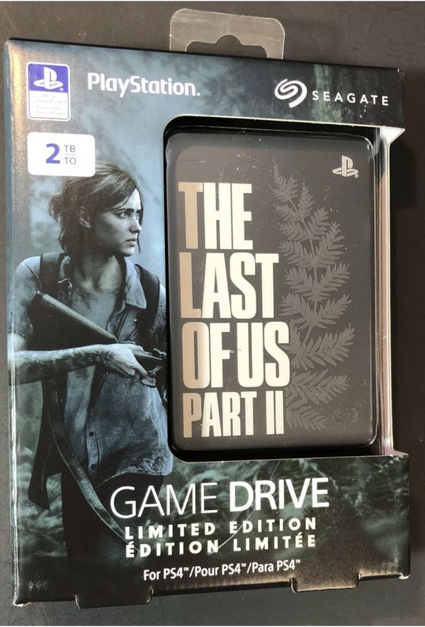 The Last of Us Part II 2 Limited Edition Seagate 2TB External Hard Drive PlayStation