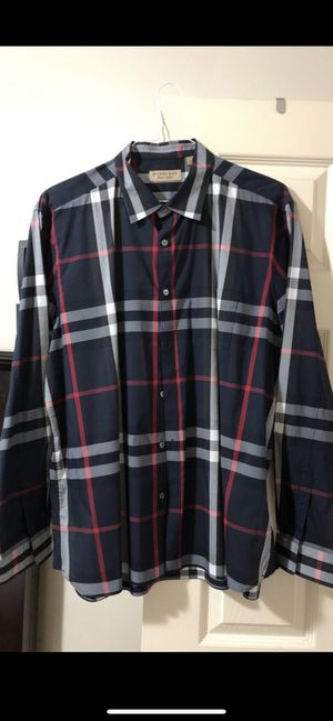 BURBERRY LONG SLEEVE SHIRT.SIZE XXXL SLIM FIT.LIKE NEW.AUTHENTIC.RECEIPT IN HAND for Sale in Garden Grove, CA