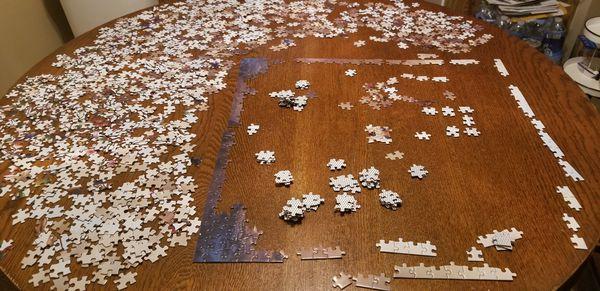1000pc Jigsaw Micropiece Puzzle Classic Artwork Night Deer