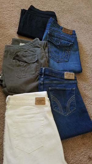 Womans size 30 jeans Hollister, lee, Abercrombie & Fitch and True Religion for Sale in Vancouver, WA