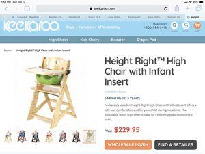 Keekaroo high chair or kids chair for Sale in Seattle, WA