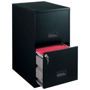 Filing Cabinet 2-Drawer Steel File Cabinet with Lock, Black for Sale in HOFFMAN EST, IL