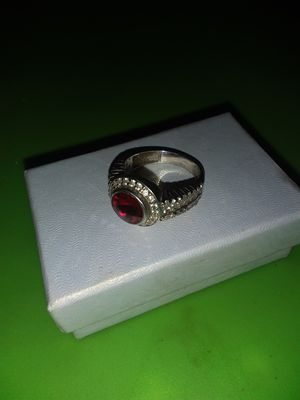 Sterling Silver 925 Diamond Encrusted Ring for Sale in Decatur, IN