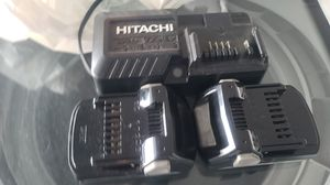 Hitachi bateria y cargador solo 2 veses usado como nuevos for Sale in Winter Haven, FL