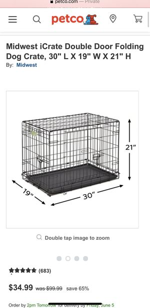Double door pet crate for Sale in San Diego, CA