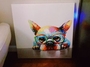 French Bulldog Painting on Canvas for Sale in San Diego, CA