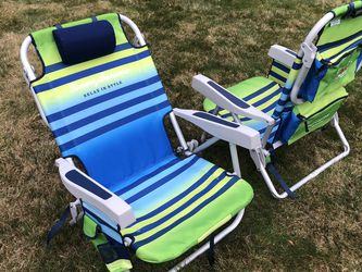 Tommy Bahama Backpack Cooler Chair with Storage Pouch and Towel Bar for Sale in Bothell,  WA