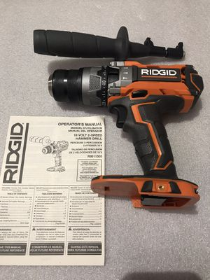 RIDGID 18-Volt Lithium-Ion Cordless Brushless 1/2 in. Compact Hammer Drill (tool only) brand new unbox for Sale in Union City, CA