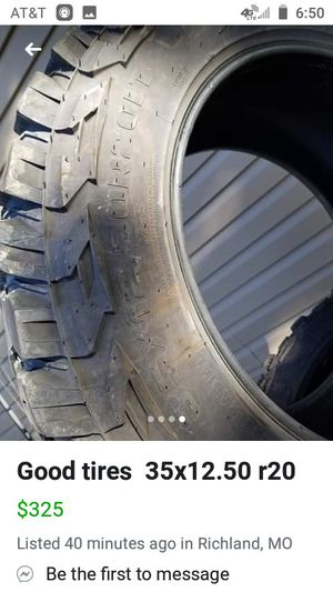 35x12.50 r20 tires 350 for Sale in Richland, MO