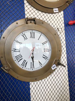 Antique Brass Porthole Clock for Sale in Alhambra, CA