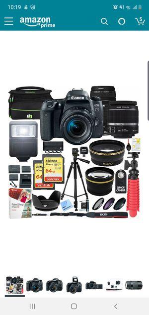 Cannon eos 77D camera bundle for Sale in Philadelphia, PA