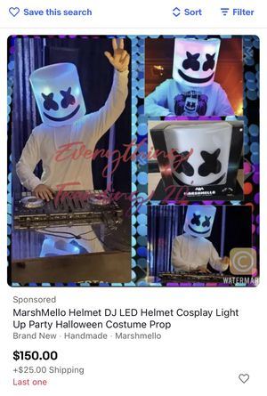 MarshMello Helmet DJ LED Helmet Cosplay Light Up Party Halloween Costume Prop. BRAND NU in BX. for Sale in Laguna Hills, CA