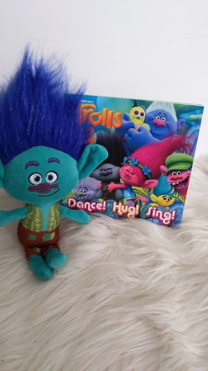 Trolls / Trolls World Tour - Book and Branch, stuffed animal gift set for Sale in Los Angeles, CA