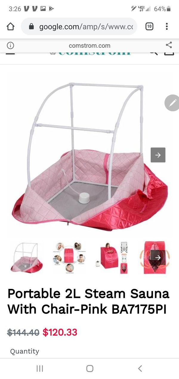 New portable sauna