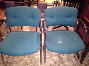 Two green office chairs cushioned for Sale in Caledonia, MI