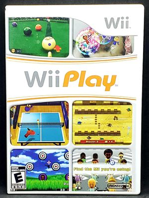 Wii Play - Nintendo 2007 Sports Billiards Pool Ping Pong Party Game - COMPLETE for Sale in Harrisonburg, VA