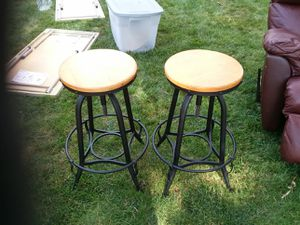 2 metal and wood bar stools for Sale in Chicago, IL