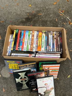 Used dvds box of 40 for Sale in Valrico, FL