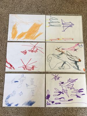Hand drawn/painted helicopters, airplanes, ships for Sale in Auburn, WA