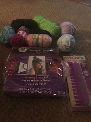 Knitting kit with yarn for Sale in Rancho Cucamonga, CA