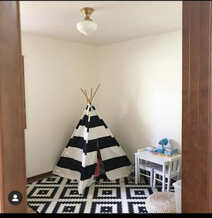Crate Barrel Kids Black and White Stripe Tent for Sale in Camas, WA