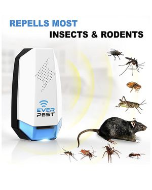 Free shipping-Pest Control Ultrasonic Pest Control- Eco-Friendly Electronic & Electromagnetic Waves Ultrasonic Pest Repeller Indoor/Outdoor Plug in R for Sale in Cumming, GA