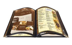 19 Menu Covers 5 Page 10 View 8.5x14 Legal Restaurant Cafe Fold Black for Sale in Kansas City, MO