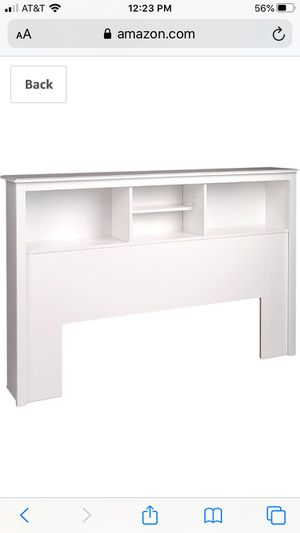 Prepac Full/Queen Bookcase Headboard, White for Sale in Seattle, WA