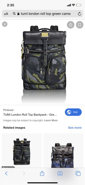TUMI alpha bravo London Roll Top backpack! for Sale in Jersey City, NJ