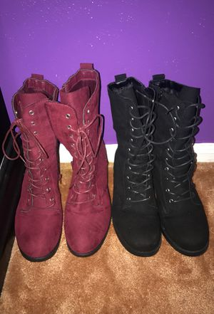 Red & black pair of boots!!! Size 10 for Sale in Houston, TX
