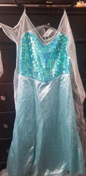 Elsa's dress for adults size L/XL for Sale in West Puente Valley, CA