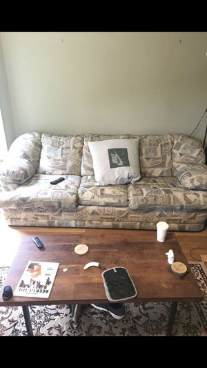 FREE: 3 seat fabric sofa for Sale in Portland, OR